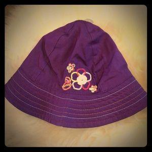 NWT The children's place 3-6m purple sun hat